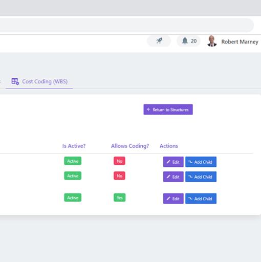 screenshot of cost management