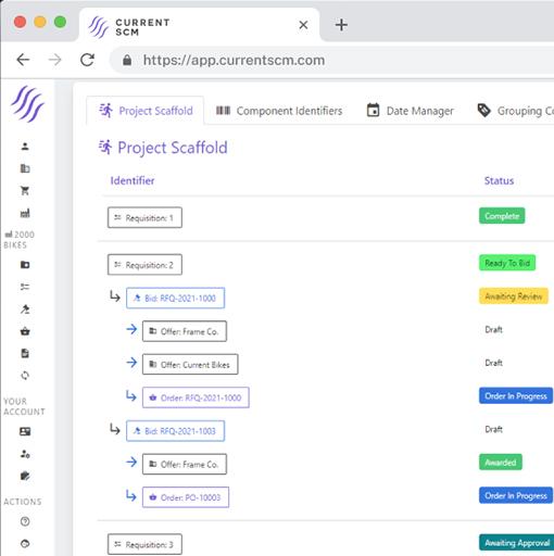 screenshot of project scaffolding